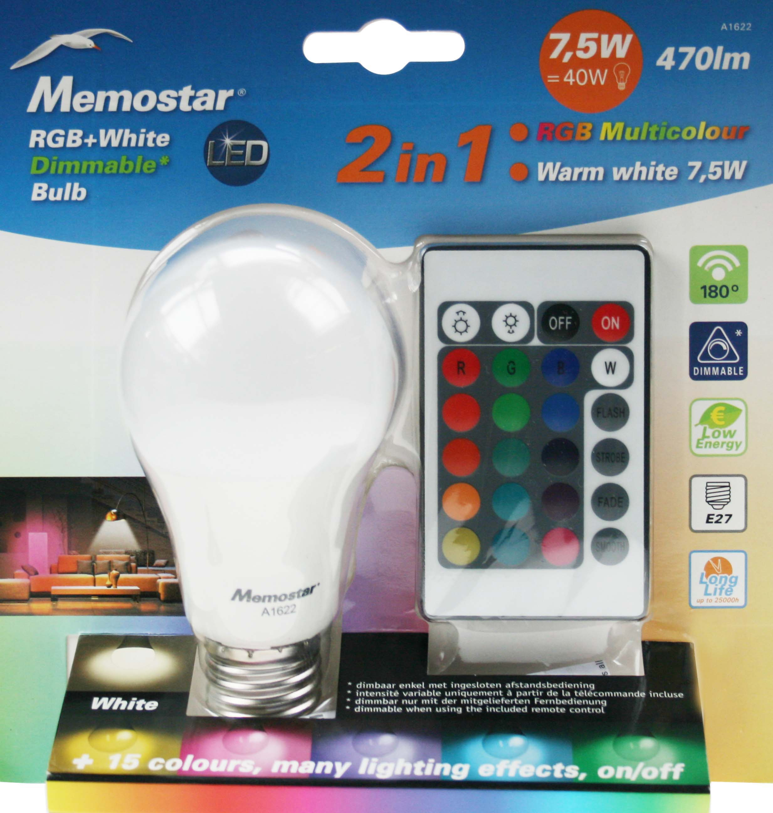 Memostar > Products > Led verlichting > lampen > RGB + White ...